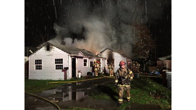 Home damaged by fire in Lebanon