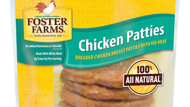Foster Farms chicken patties recalled for plastic