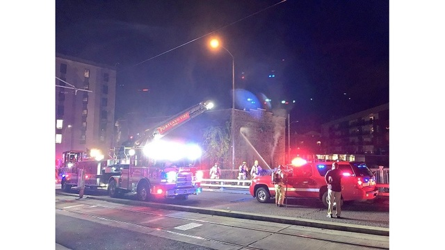 Crews knock down fire in vacant 'unsafe' building