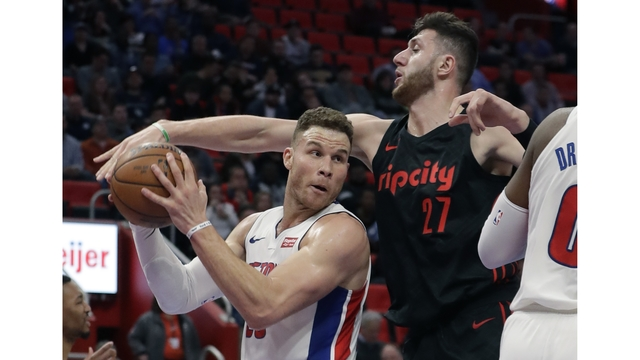 Pistons win 4th straight in rout of Portland