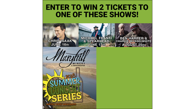 Enter to win a pair of tickets to Ben Harper at Maryhill Winery!!