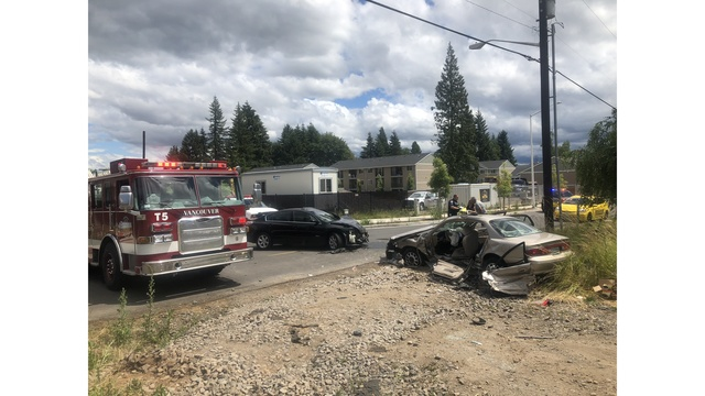 T-bone crash critically injures one in Vancouver