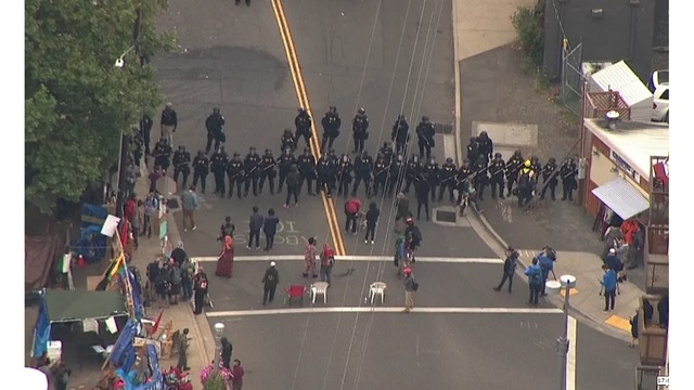 Homeland Security removed ICE protesters