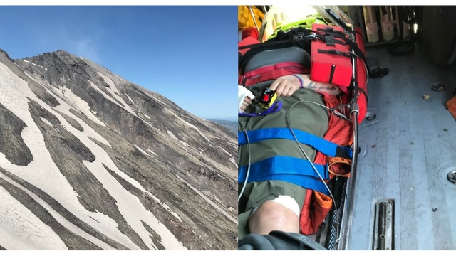 Injured Hiker Rescued After Fall On Mount St Helens