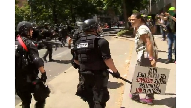 Injured Portland protester may sue city