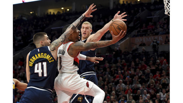 Nuggets Trail Blazers Basketball_1543649127865