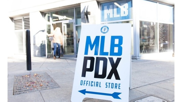 MLB to PDX opens store, profits to help youth