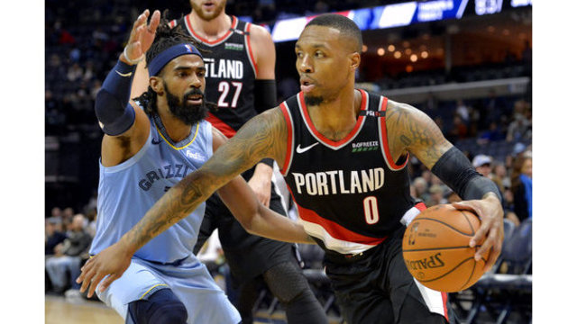 Trail Blazers Grizzlies Basketball_1544676750016
