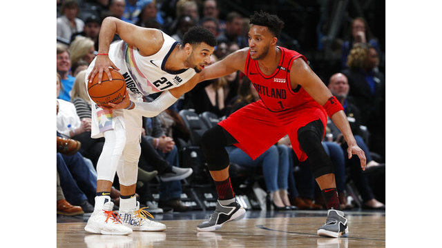Trail Blazers Nuggets Basketball_1547438629289