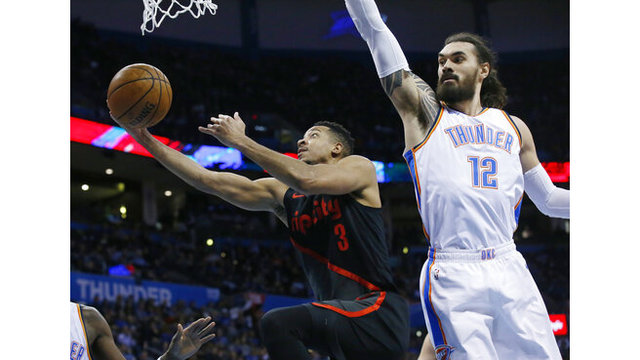 Trail Blazers Thunder Basketball_1548223797061