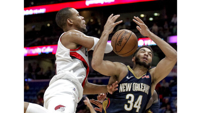 Trail Blazers Pelicans Basketball_1552708200737