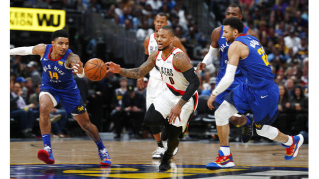 Trail Blazers Nuggets Basketball_1554528922276