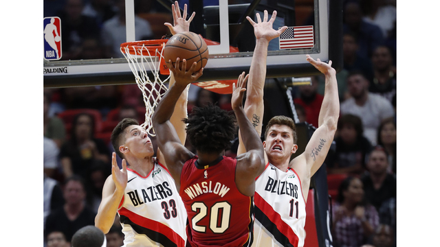 Trail Blazers at Miami Heat, Oct. 27